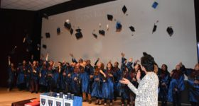 "Graduation ceremony for the 10th generation of ""Euro College"" graduates"