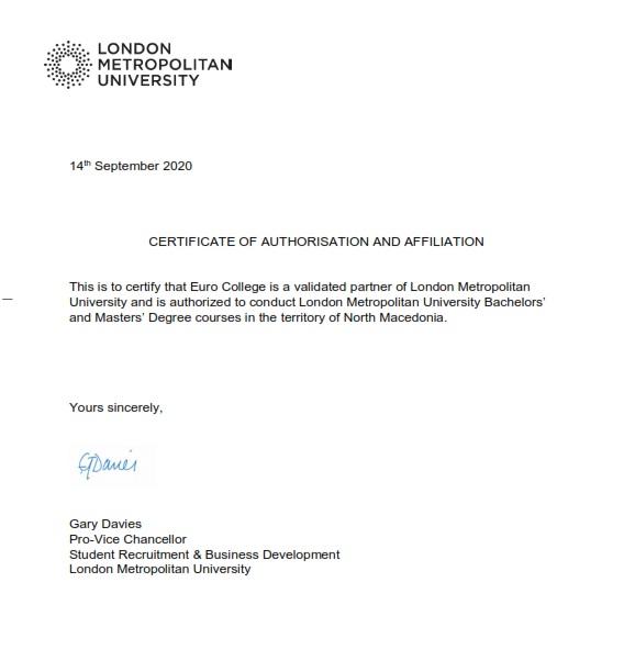 certificate from LMU